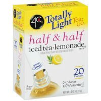 Case of 4C Totally Light Tea 2 Go Half & Half Iced Tea & Lemonade (6 Total)