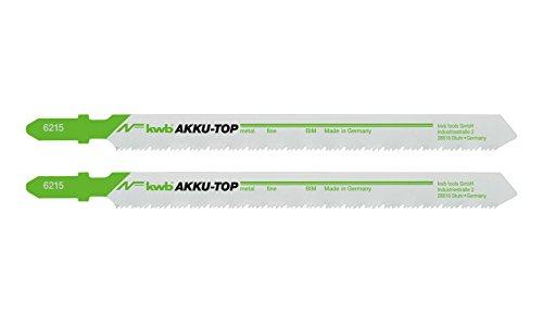 Preisvergleich Produktbild kwb AKKU-TOP Stichsägeblatt 621520 (2 Stück, Metall- und Holzbearbeitung, Bi-Metall, Länge 80/57 mm) auch für u.a. Einhell TE-JS 18 Li