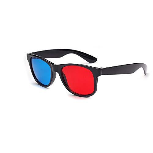 WEIWEITOE-DE Universal 3D-Brille TV-Film Dimensional Anaglyph Video Frame 3D-Brille DVD-Spiel Glas Rot und Blau Farbe, blau und weiß,