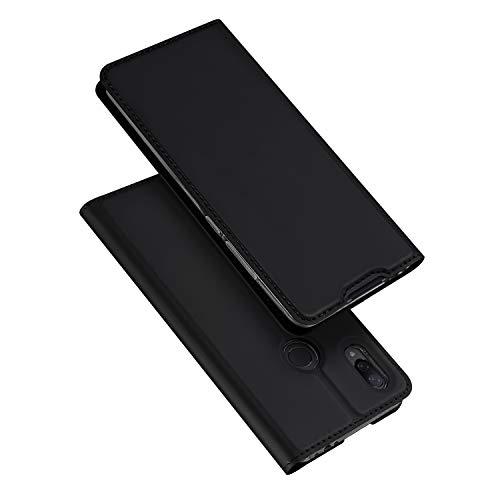 DUX DUCIS Funda para Xiaomi Redmi Note 7 / Redmi Note 7 Pro, PU Cuero Flip Folio Carcasa [Magnético] [Soporte Plegable] [Ranuras para Tarjetas] (Negro)
