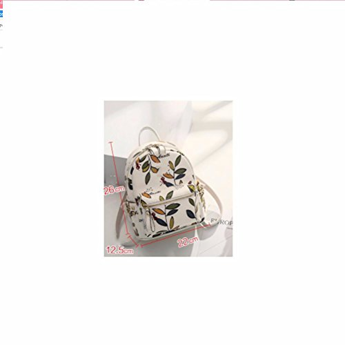 mini - gedruckte rivet rucksack,schwarz. beige -