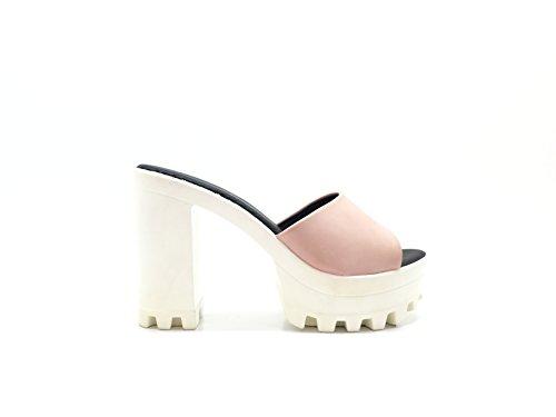 CHIC NANA . Chaussure Femme Mode Escarpins à plateforme, talon haut, semelle crantée. Existe en Noir, Rose, Blanc. Rose