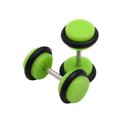 Givbro - orecchini dilatatori in acrilico green