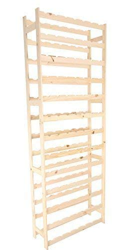 MODO24 Weinregal, Holz, unbehandelt, 72,5 x 25 x 198 cm, 29-Einheiten -