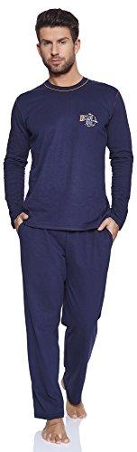 Italian fashion if pigiami due pezzi per uomo otto 0223 (arancia, xxl)