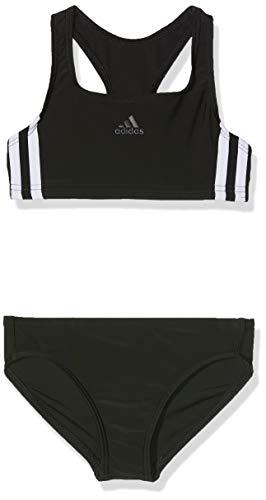 adidas Mädchen 3-Streifen Bikini Black/White 104