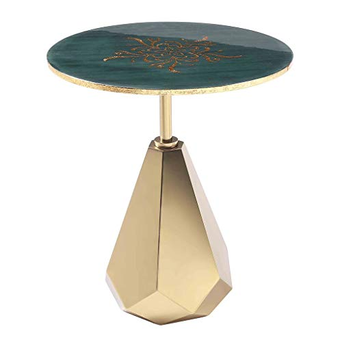 Tables basses Tables Table Ronde Salon en Métal Coin De La Mode Petite Table Table Créative Table D'appoint Moderne Canapé Simple (Color : Blue, Size : 50 * 50 * 56cm)