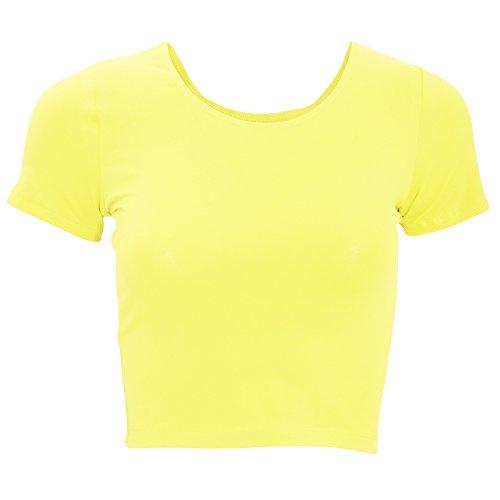 american-apparel-maglietta-corta-donna-xs-giallo-neon