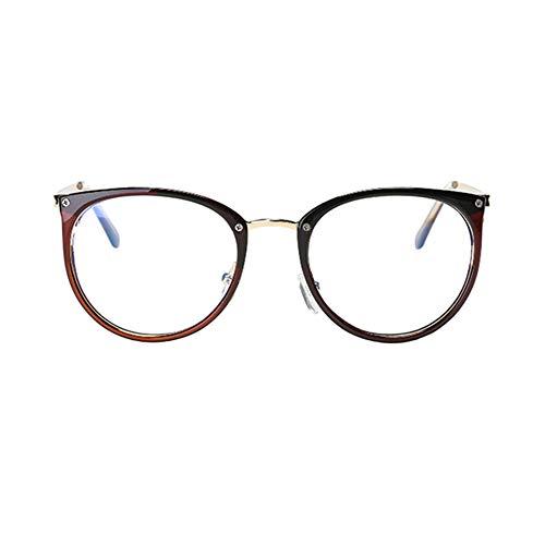 Xinvivion Runden Rahmen Computer Brille - Blau Licht Filter Jahrgang Klar Linse Leser Brillen Männer Frau Anti Ermüdung der Augen Gläser