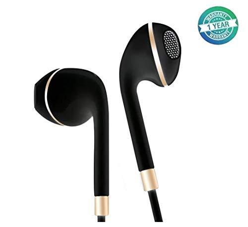 Auriculares intraurales, Auriculares con Cable con Micrófono y Control para Móvil, Smartphones, Samsung, XiaoMi, Huawei, MP3/MP4, Negro