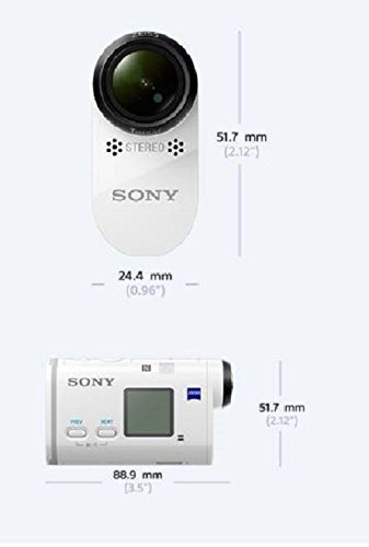 Sony FDR-X1000 4K Actioncam Live-View Remote Kit (4K Modus 100/60Mbps, Full HD Modus 50Mbps, ZEISS Tessar Objektiv mit 170 Ultra-Weitwinkel, Vollständige Sensorauslesungohne Pixel Binning) weiß - 6