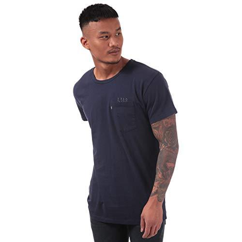 8a208c1f7d9 Levi's Mens Mens Line 8 Longline T-Shirt in Blue - M