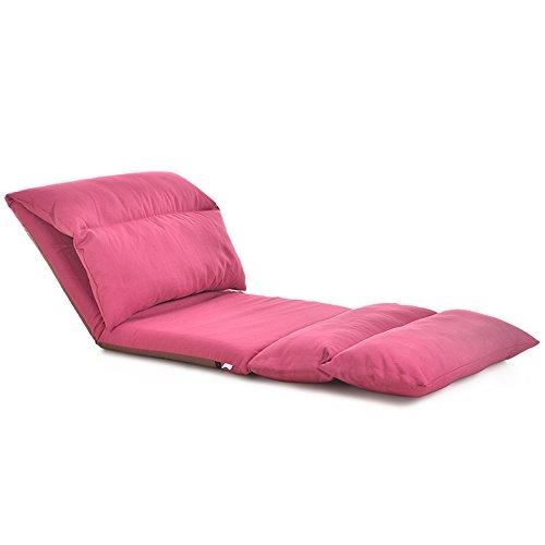NAN Fauler Stuhl faltbarer waschbarer beiläufiger Balkon-Stuhl ( Farbe : Rose rot )