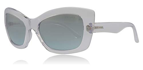 Prada PR19MS 2AZ349 Transparent Postcard Cats Eyes Sunglasses Lens Category 2 Lens Mirrored Size 55mm