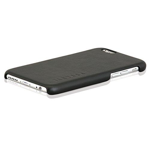 """iPhone 6/6s Funda Piel Carcasa Negra - KANVASA """"One"""" Funda ultra fina para Apple iPhone 6 / 6s (4.7 pulgadas) - Lujosa Funda hecha de Auténtica Piel de Cuero - Protección Óptima y Piel de Calidad"""