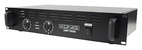 Konig PA-AMP10000-KN Amplificatore Semi-Professionale per Ambiente, Nero