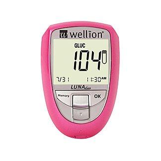 Wellion Luna Blutzuckermessgerät mg/dl pink, 1 St