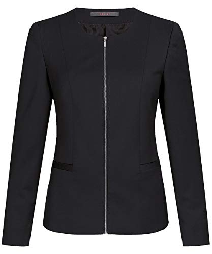 Kostüm Manchettes - GREIFF Damen-Blazer Corporate WEAR 1429 Modern 37.5 Regular Fit - Schwarz - Gr. 40