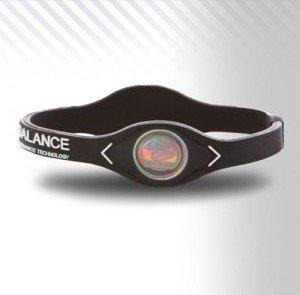 PowerBalance Silicone Wristband Power Balance Armband Black-White L