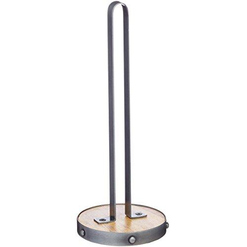 Kitchen Craft Industrial Kitchen Küchenrollenhalter, Metall/Holz, 31cm (Standard-arbeitsplatte Breite)
