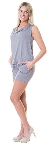 Divita Umstandsoverall Overall Einteiler Pregnancy Jumpsuit Umstandsmode Sommer D70 (S/M, Grau)