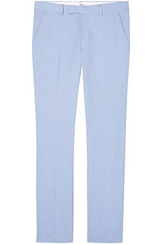 FIND Herren Anzughose mit Struktur Blau (Pale Blue)