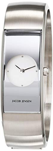 JACOB JENSEN Reloj Analógico para Mujer de Cuarzo con Correa en Acero Inoxidable JJ480