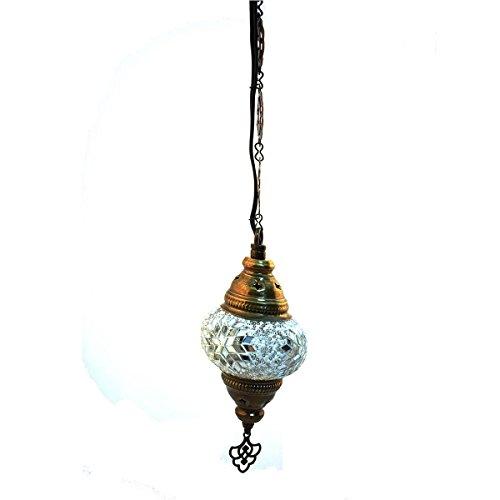 Lámpara turca de techo blanco 70cm-x-10cm