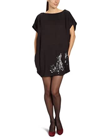 Object Damen Kleid (mini) 23012625 Zoya Embellish Dress, Gr. 42 (XL), Schwarz (BLACK)