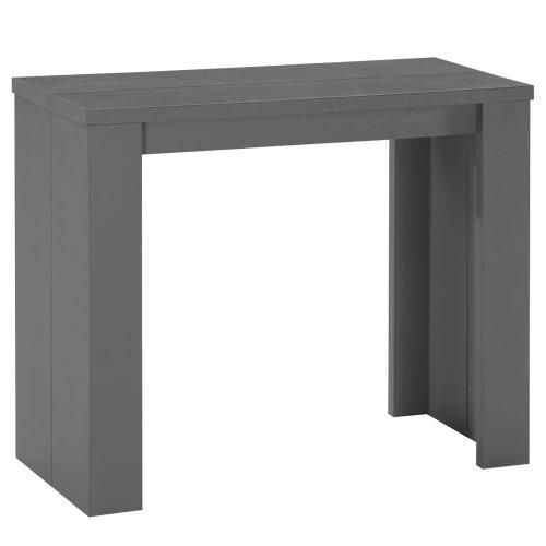 Menzzo AT9011 Contemporain Brookline Table Console Bois Gris Mat 40/90/140/190 x 90 x 76,5 cm
