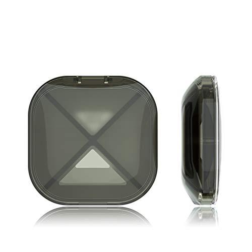 66hzpsn Mal Pillenbox, tragbare kleine Pillenbox mit Einer Woche Reisemedizin (Farbe : SCHWARZ)
