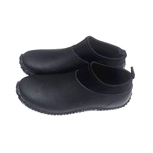 Styhatbag Hunter Boot Männer im Freien beiläufige Schuhe Männer Kurze Tube Kurze Stiefel Rinder braun Tauchanzüge Wasserdichte Schuhe Soft Rubber Regen Stiefel (Größe : 42 EU)
