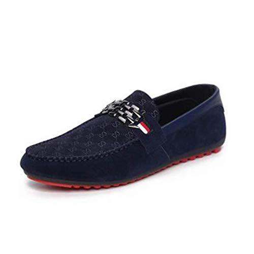 HILOTU Zapatos De Vestir De Terciopelo Mocasines Hombre