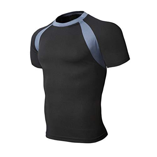 Preisvergleich Produktbild Binggong Herren Shirt,Herren Slim Fit Kurzarm Hemd Hemden Tailliert Mehrere Farben zur Auswahl Größe M,L,XL,XXL,XXXL,XXXXL