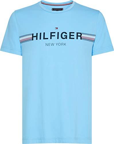 e7d76694ff Tommy Hilfiger Corp Flag tee, Camiseta para Hombre, Azul (Alaskan Blue 430)  XX-Large