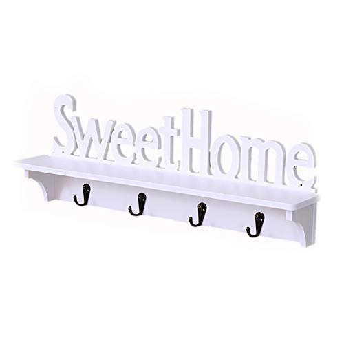 Sweet Home Design - Colgador pared 4 ganchos colgar