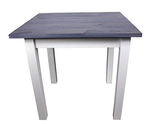 Magnetic Mobel Esstisch Küchentisch Tisch Kiefer massiv Restaurant Eckige Tischplatte 80 x 60 cm (80x60, Grau) -