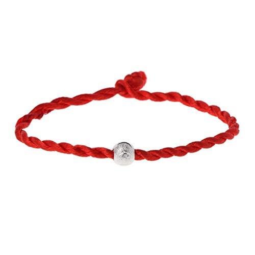 Red Seil-Armbänder verstellbares Seil Good Luck Amulett buddhistischer Schmuck, Geeignet für Männer und Frauen, 1#
