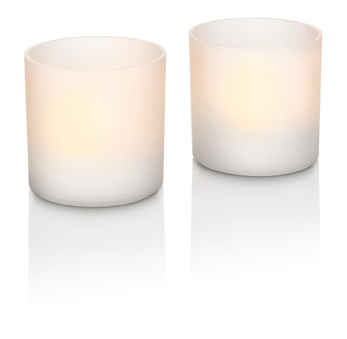 Philips 7007631PH Tealights, Set 2 Candele LED in Materiale Sintetico, Altezza 6 cm, Bianco