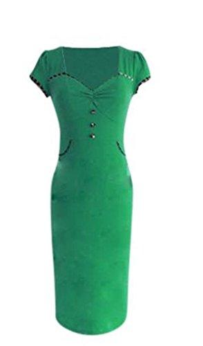 jeansian Estate Donna Sexy Hip Pacchetto Bar Club Bodycon Sottile Abito Vestito W1122 Green