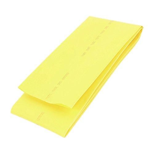 Preisvergleich Produktbild Gelb 70mm Durchmesser 2: 1 Polyolefin-Schlauch Sleeve Schrumpfschlauch 1M