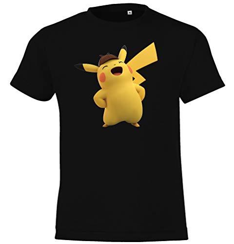 T-Shirt Modell Detective Pikachu, Gr. 106/116 (6 Jahre), Schwarz ()