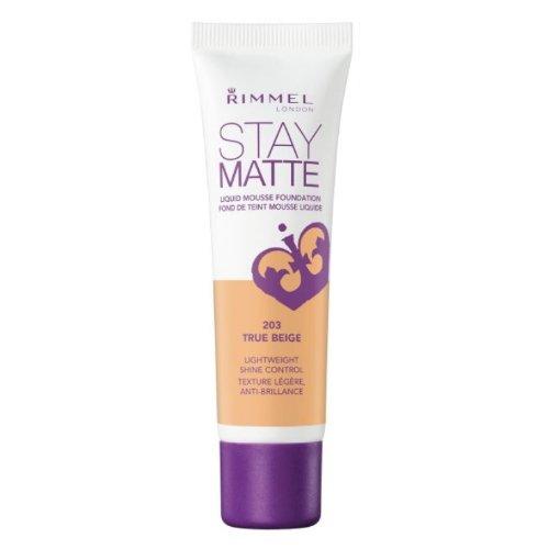 (3 Pack) RIMMEL LONDON Stay Matte Liquid Mousse Foundation - True Beige