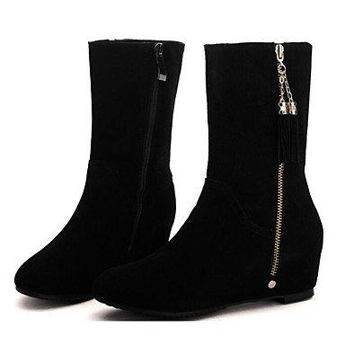 RTRY Scarpe Da Donna In Pelle Nubuck Autunno Inverno Comfort Moda Stivali Stivali Per Casual Nero Black Us5.5 / Eu36 / Uk3.5 / Cn35 US7.5 / EU38 / UK5.5 / CN38