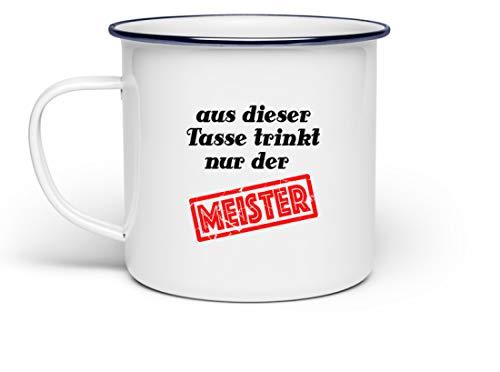 Tasse für den Meister mit klarer Ansage | Lustiger Spruch für Handwerker und Handwerksbetriebe | Perfekter Kaffeebecher fürs Frühstück oder die Kaffeepause | Maurer Elektriker Zimmerer | 300 ml
