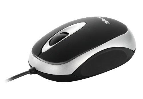 Trust Centa Mini Mouse–Maus (USB, Optisch, Travel, Schwarz, Ambidextrös, Einfarbig)