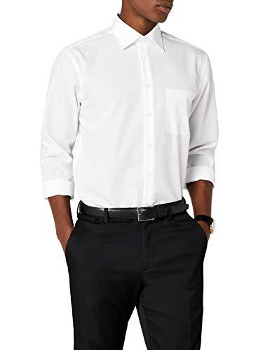 Seidensticker Herren Modern Langarm mit Kent-Kragen Businesshemd, Weiß (White/01), 42 cm