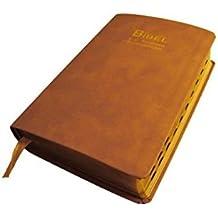 F.C. Thompson Studienbibel: NeueLuther Bibel - Luther 2009 - Leder braun, Goldschnitt, Griffregister, Reißverschluss