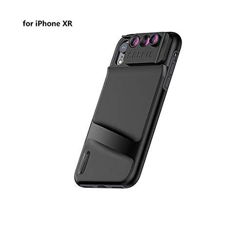 LJ2 6 in 1 Telefon Objektivdeckel Fall, Weitwinkel Telefon Kamera Objektiv Fisheye Tele Makro Kamera Objektiv für iPhone XR XS XS max,iphoneXR (Iphone Fall Len Kamera)