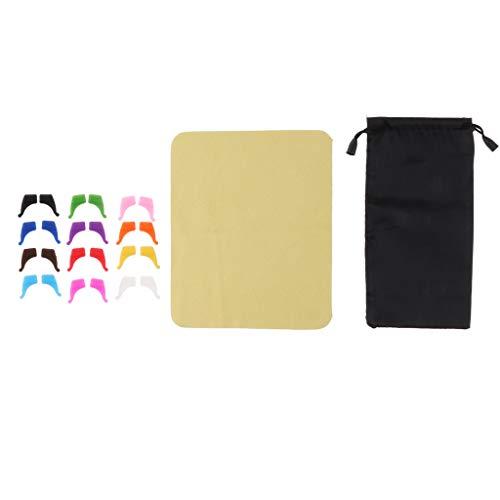 CUTICATE 12 Paar Sportbügelenden/Fassungshalter zum Aufstecken Anti-Rutsch Bügelenden für Brille - S